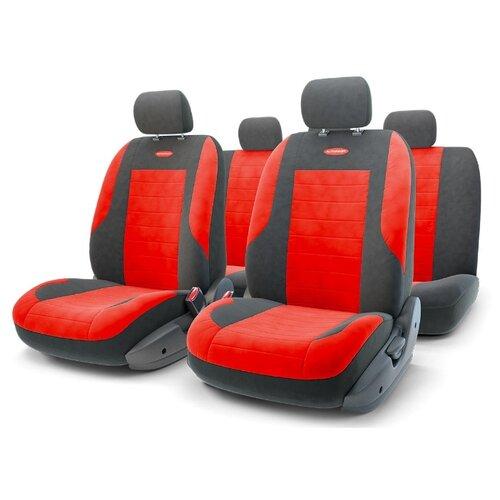 цена на Комплект чехлов AUTOPROFI EVO-1105 черный/красный
