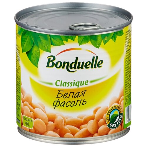 Фасоль Bonduelle Classique белая, жестяная банка 400 г iska фасоль белая 425 г