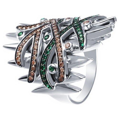 JV Кольцо с фианитами из серебра SY-355837-R-KO-002-WG, размер 16.5 jv кольцо с стеклом и фианитами из серебра sy 356989 r ko 002 wg размер 16 5