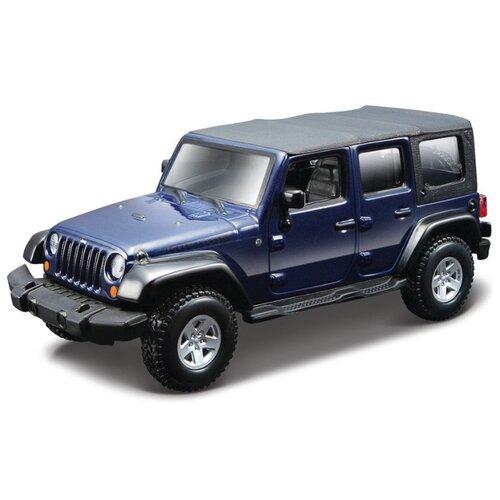 Внедорожник Bburago Street Fire Jeep Wrangler Unlimited Rubicom (18-43000/1) 1:32 12.7 см синий, Машинки и техника  - купить со скидкой
