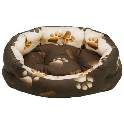 Лежак для собак и кошек Fauna International Oasis M 61х61х20 см коричневый/бежевый лежак для кошек для собак зоо фортуна чай 2 м 271 80х50х8 см бежевый коричневый