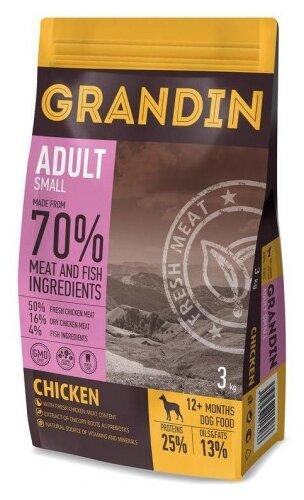 Корм для собак Grandin 70% курица (для мелких пород)