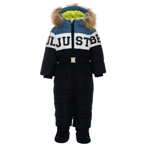 Купить Комбинезон Gulliver Baby размер 74, синий, Теплые комбинезоны