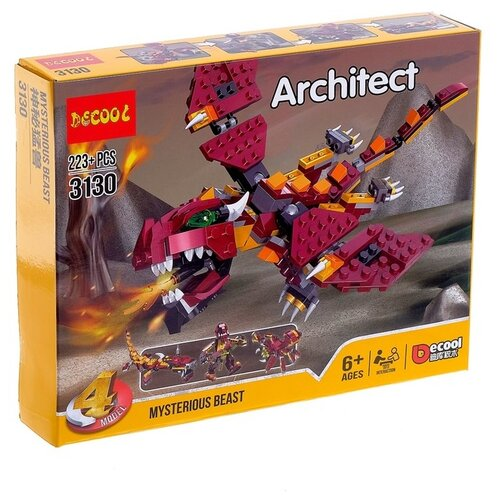 Купить Конструктор Jisi bricks (Decool) Architect 3130 Таинственный зверь, Конструкторы