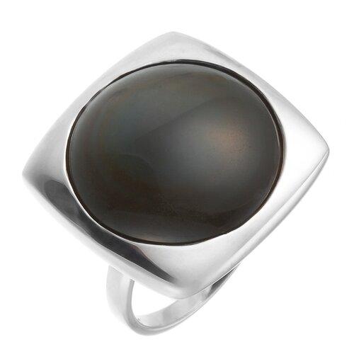 цена на JV Кольцо с обсидианом из серебра NRI101-RO-OB-WG, размер 17.5