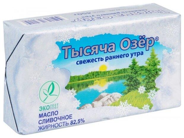 Тысяча Озёр Масло сливочное 82.5%, 450 г