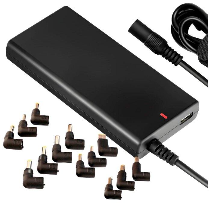 Адаптер питания от сети Ginzzu GA-2180U для ноутбуков 80Вт, 13 коннекторов, 1хUSB 1A
