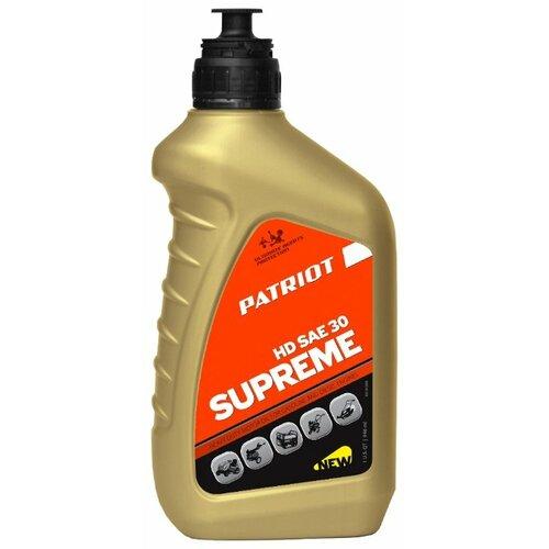 Фото - Масло для садовой техники PATRIOT Supreme HD SAE 30 0.946 л масло для садовой техники patriot power active 2t дозаторное 0 946 л