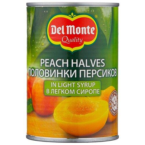 Консервированные персики Del Monte половинки в легком сиропе, жестяная банка 420 г фруктовые консервы del monte фруктовый коктейль в сиропе 420 г