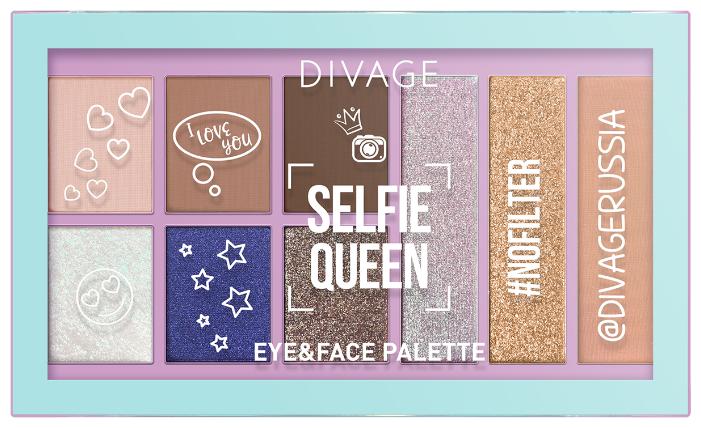 DIVAGE Палетка теней для век Selfie Queen