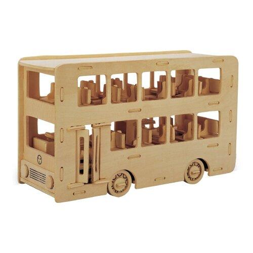 Сборная деревянная модель Двухэтажный автобус
