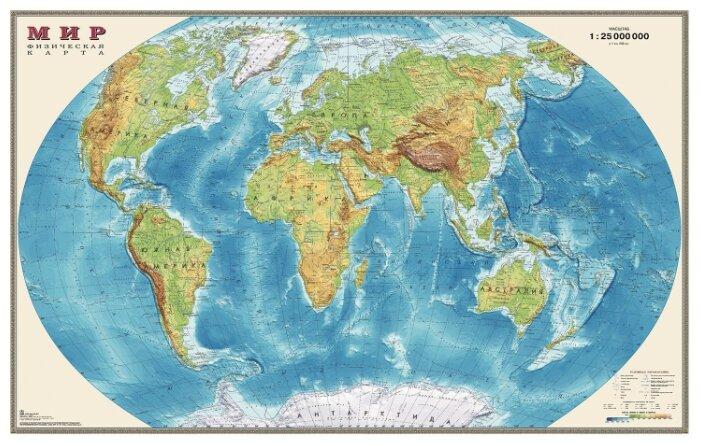 Складная карта Мира. Обитатели земли, арт. К25 ДиЭмБи 4607048956090
