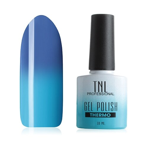 Купить Гель-лак для ногтей TNL Professional Thermo effect, 10 мл, №01 - васильковый/ярко-голубой