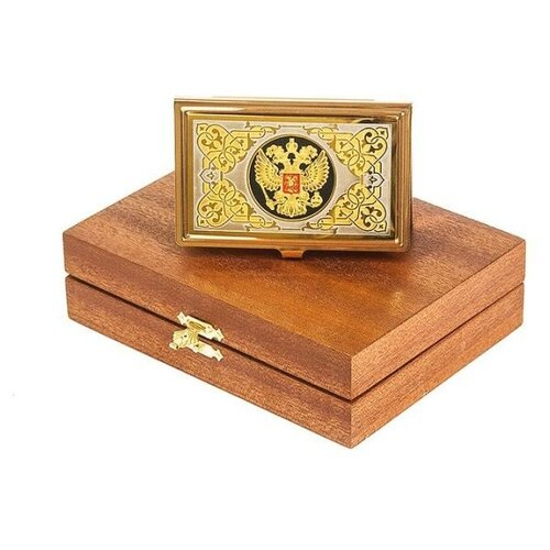 Визитница Элитные подарки Гербовая, золотистый