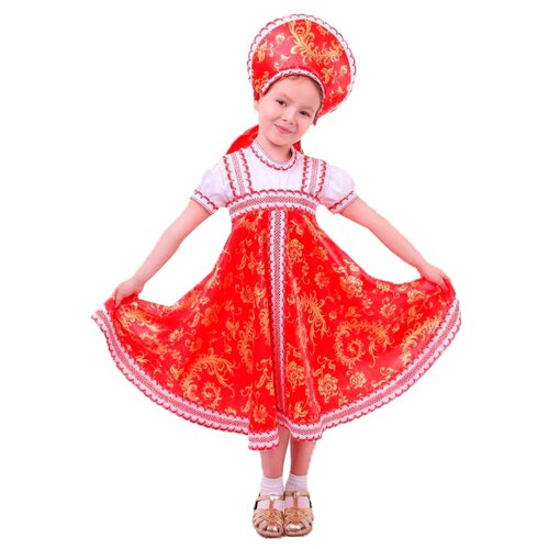 Купить Костюм Страна Карнавалия Красно-бежевые узоры (1371474-1371476, 2010917-2010918), красный/бежевый, размер 122-128, Карнавальные костюмы