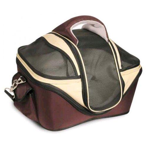 Сумка-переноска для собак Triol 30171M 46х39х35 см коричневый/бежевый сумка переноска для собак triol лаура 46х26 5х28 см голубой серый