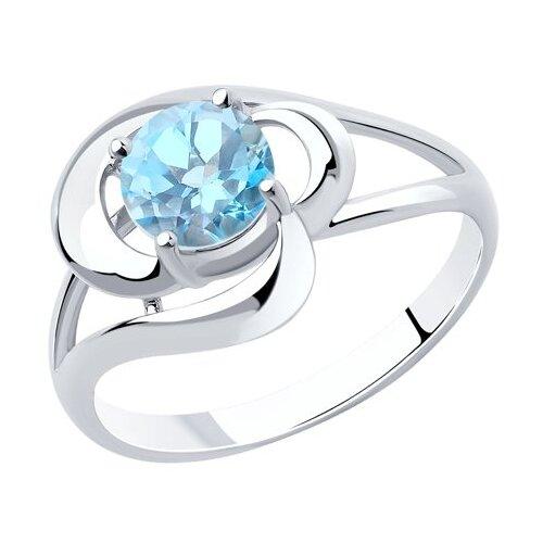 Diamant Кольцо из серебра с топазом 94-310-00563-1, размер 17.5 фото