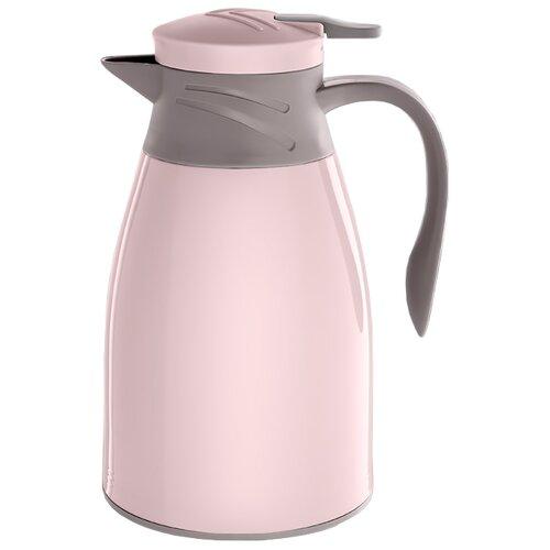 цена на Термокувшин Alpenkok со стеклянной колбой (1 л) розовый/серый