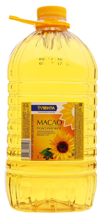 ЛЕНТА Масло подсолнечное рафинированное дезодорированное