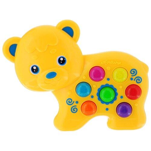 Интерактивная развивающая игрушка Азбукварик Веселушки Мишка желтый интерактивная игрушка азбукварик веселые уроки от 3 лет
