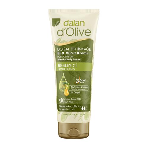 Крем для тела Dalan D'Olive Увлажняющий с оливковым маслом, 250 мл масло для тела dalan d olive oil olive body butter 250 мл