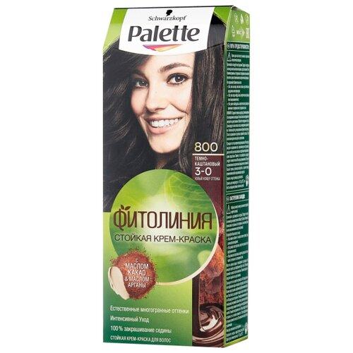 Palette Фитолиния Шоколадный Мокко стойкая крем-краска для волос, 800 (3-0) Темно-каштановый краска для волос матрикс мокко 6м отзывы