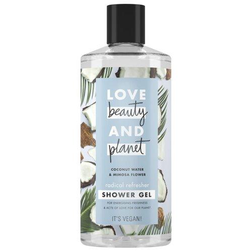 Гель для душа Love Beauty and Planet Кокосовая вода и цветы мимозы, 400 мл гель для душа love beauty and planet чайное дерево и ветивер 400 мл