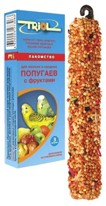 Лакомство для птиц Triol Standard с фруктами для мелких и средних попугаев