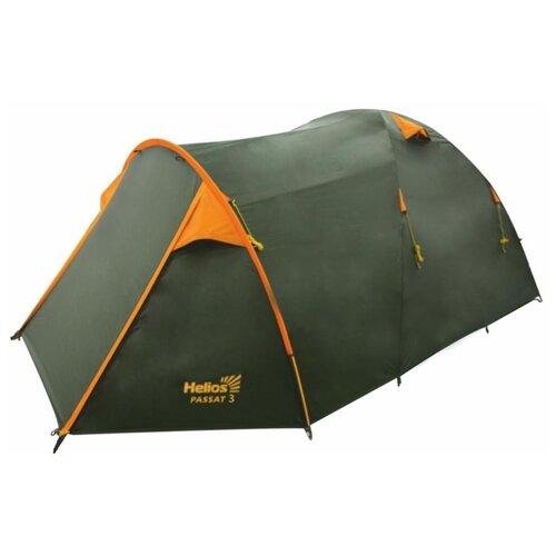 Палатка HELIOS PASSAT 4 зеленый/оранжевый