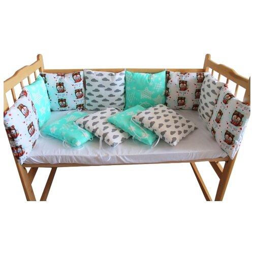 Valena бортики в кроватку Маленький пилот белый/голубой бортики в кроватку leader kids мишки с коляской