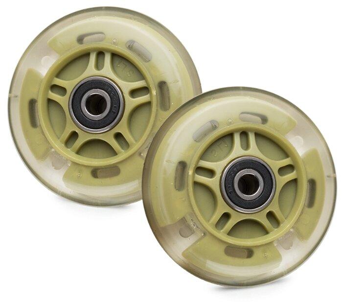 Колесо для самоката Trolo для Maxi светящиеся задние, 80 мм, комплект (2 шт.)