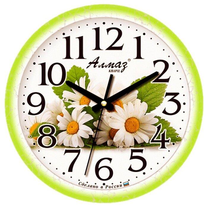 Часы настенные кварцевые Алмаз E12 зеленый