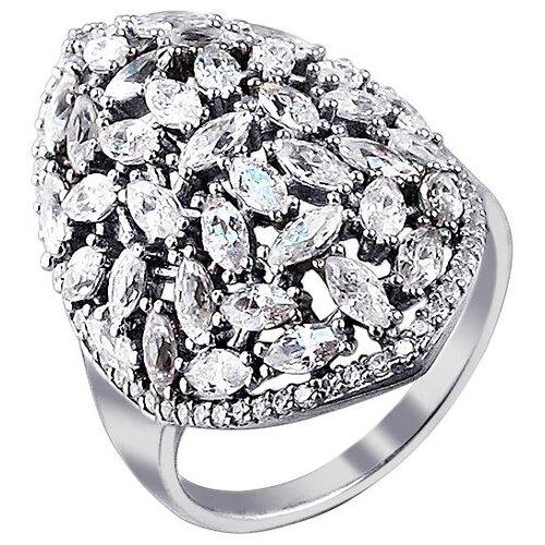 Эстет Кольцо с фианитами из серебра 01К1511098, размер 16.5 ЭСТЕТ