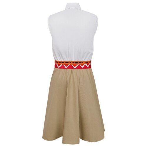Платье Stella Jean размер 116, бежевый/белый