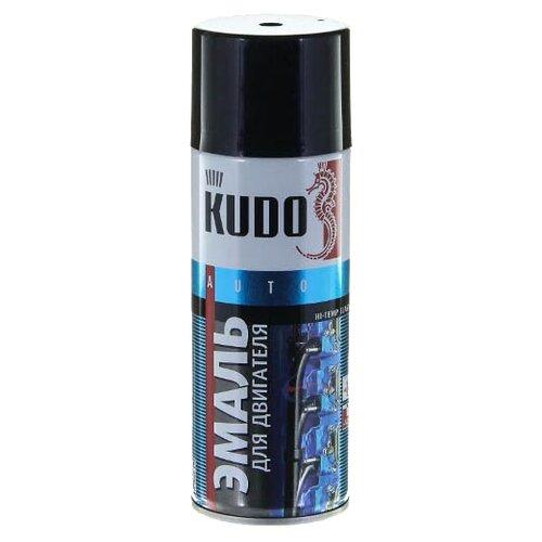 KUDO аэрозольная Эмаль для двигателя 520 мл черный