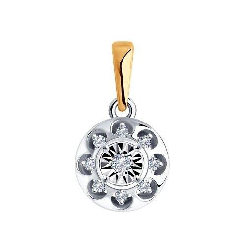 Diamant Подвеска из комбинированного золота с бриллиантами 51-230-00864-1