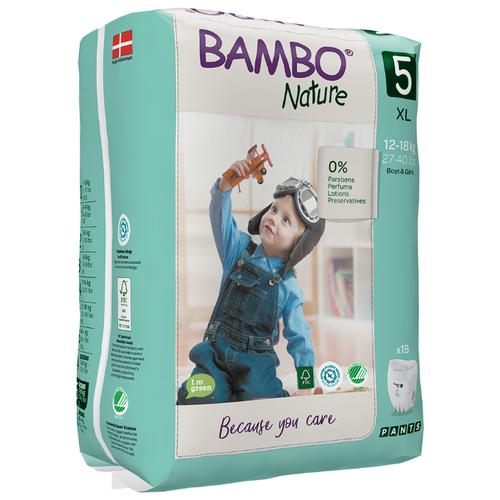 Купить BAMBO трусики Nature 5 (12-18 кг) 19 шт., Подгузники