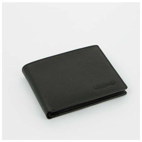 Портмоне S.Quire, натуральная воловья кожа, черный, наппа, 11,4x9,2 см
