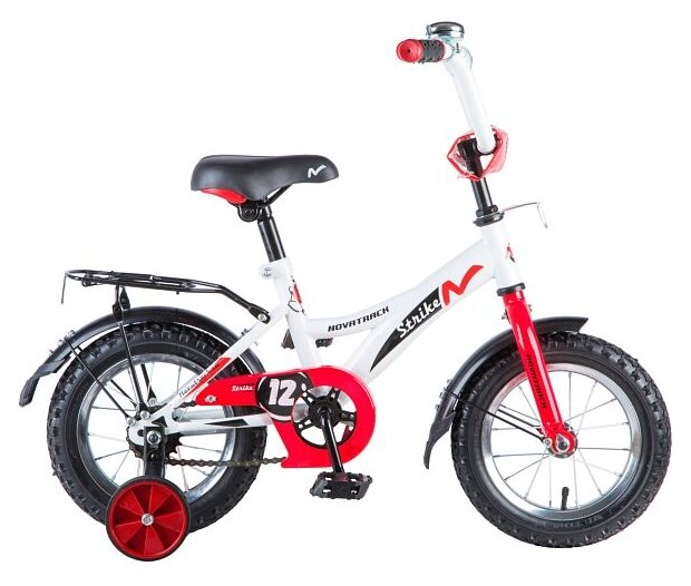 Детский велосипед Novatrack Strike 12 (2018) белый/красный (требует финальной сборки)