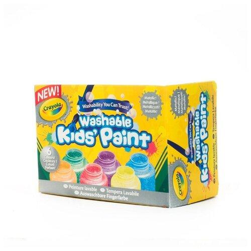 цена на Crayola Краски с металлическим эффектом, 6 цветов (54-5000)