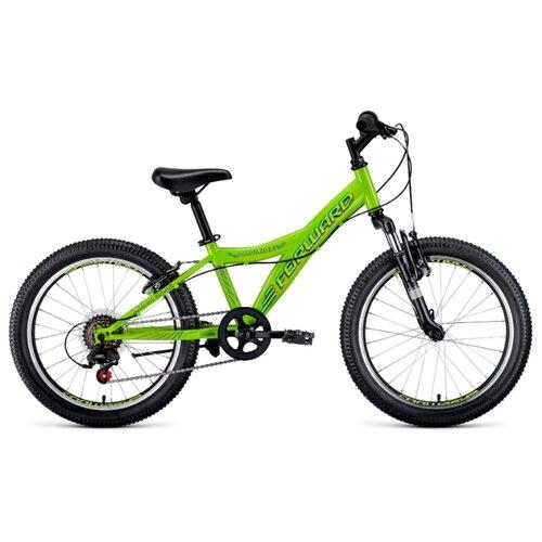 Подростковый горный (MTB) велосипед FORWARD Dakota 20 2.0 (2020) зеленый 10.5 (требует финальной сборки) подростковый горный mtb велосипед forward dakota 24 1 0 2020 черный 13 требует финальной сборки