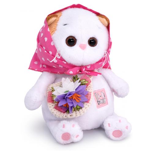 Купить Мягкая игрушка Basik&Co Кошка Ли-Ли Baby в косыночке и с корзинкой 20 см, Мягкие игрушки