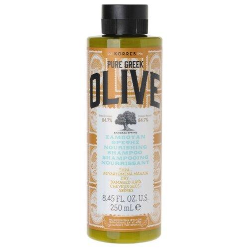KORRES шампунь Pure Greek Olive питательный для сухих и поврежденных волос, 250 мл недорого