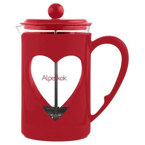 Френч-пресс Alpenkok (0,8 л) красный
