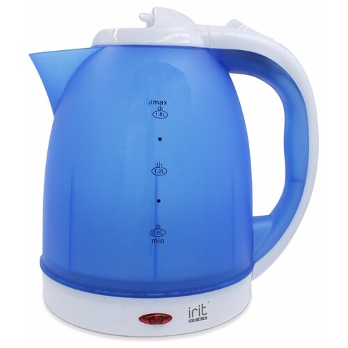 Чайник irit IR-1231, blue/white чайник irit ir 1336 2l