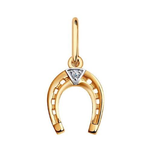 Фото - SOKOLOV Золотая подвеска «Подкова» 031594 jeweller karat подвеска золотая с фианитами подкова 1137438 1