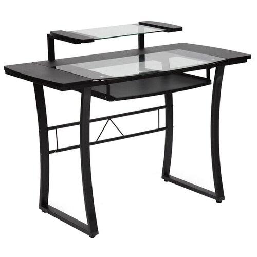 Компьютерный стол TetChair WRX-05, 113х62 см, цвет: черный/прозрачное стекло