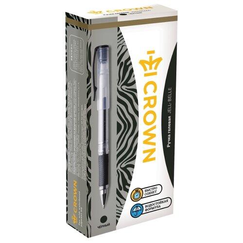 Купить CROWN Набор гелевых ручек Jell-Belle, 0.5 мм, 12 шт, черный цвет чернил, Ручки