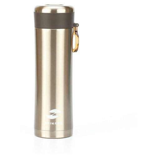 Термокружка Stinger, 0,42 л, сталь/пластик, золотой матовый, 7,5 х 6,9 х 22,2 см