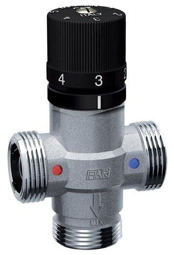 Трехходовой смесительный клапан термостатический FAR 3957 34 муфтовый (ВР), Ду 20 (3/4